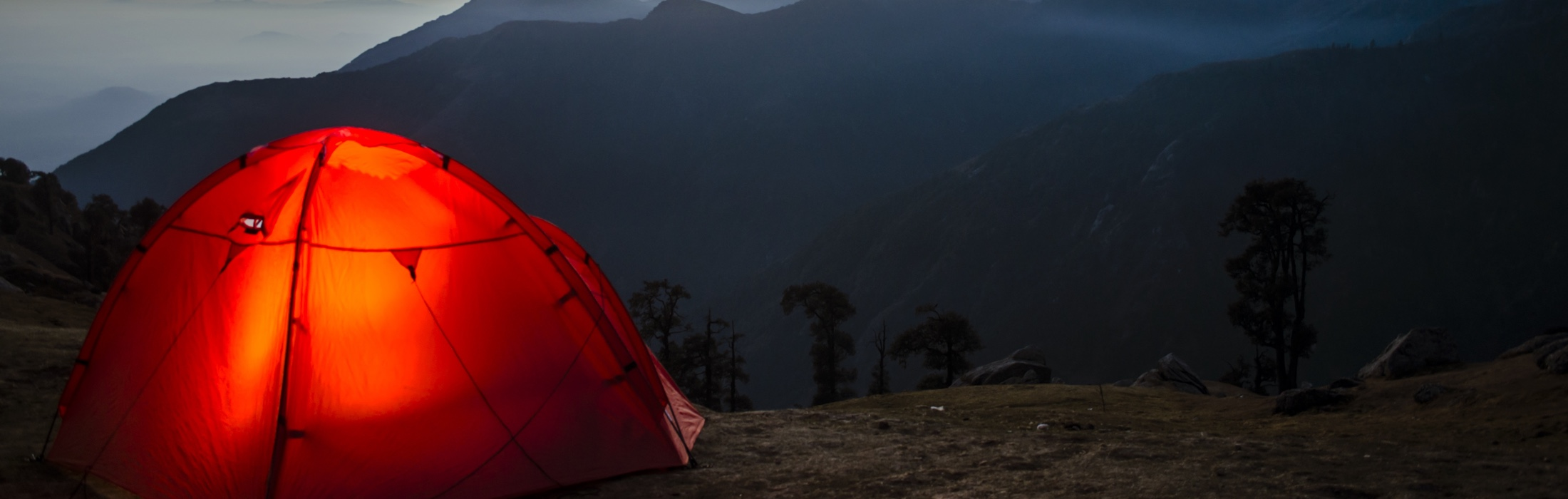 Tent and gear.