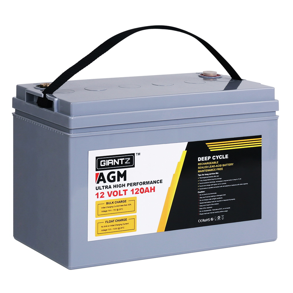GIANTZ 120Ah AGM Deep Cycle Battery